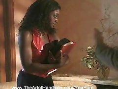 Ebony Sekreterare Fick en Avrunkning Val