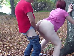 PAWG having sex in the woods