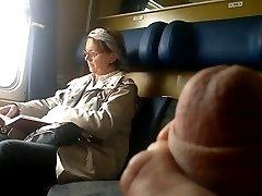 A vonat Dick flash Érett - Cum