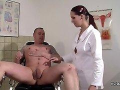 Vokietijos Slaugytoja, noriu Spermos Pavyzdį ir gauti jį su Fuck