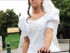 Desperate bride Amirah Adara gets fucked somewhere in public