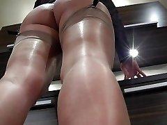 Shiny nylon soles