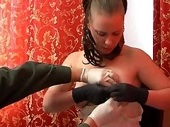 Tits sewing and extreme object insertion