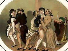 Tillåtande abbots, obscent munkar och nunnor lystet