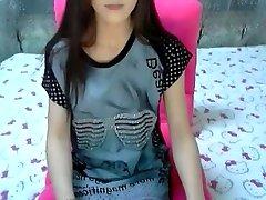 Crazy amateur flick with skinny, smallish tits, college, strip, solo, webcam scenes
