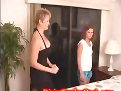 Busty MILF housewife is getting seduced and licked by babysitter