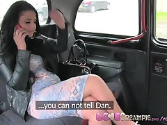 Love Creampie Cheating British chubby slut gets a pussy full of cum in taxi