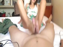 Hot Amateur Pov Footjob!