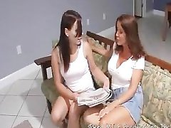 Mom can't resist Daughers feet