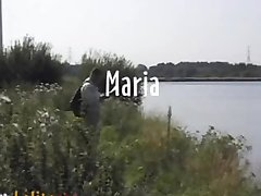 Švedų porno aktorė Maria Roswitha fucks lauko