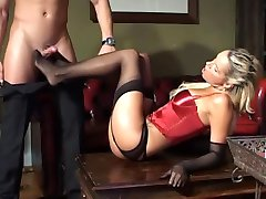 Lingerie Black and Red Fetish Couple.