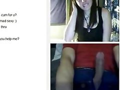 Shy girl flashes on Omegle