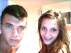 Jaunais Pāris's Jāšanās Uz Webcam