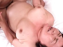 Japanese granny, tight pussy and cream pie