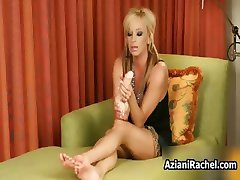 Sexy blonde milf gets horny rubbing part6