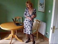 Mature Bod Stocking Tights Strip