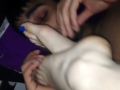 He loves to lick my feet
