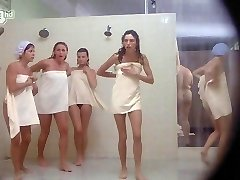 Porkys - Spycam gloryhole shower scene (solo girls)
