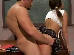 Cheating schoolgirl torn up by her teacher