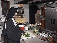 German nun analed in kitchen