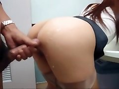 Japanese nymph fucked in public
