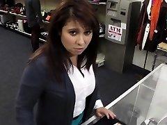 Inexperienced schoolgirls voyeur fucking in public place