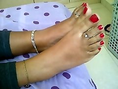 teen indian feet