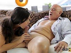 old4k. drsný sex pre ohromujúci latina babe