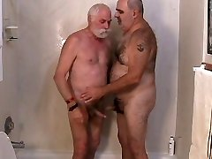 Two mature studs getting off