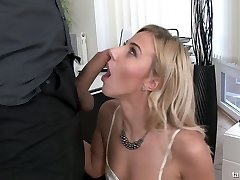 Crazy clothed fucky-fucky with sexy big-chested secretary Nathaly Cherie pissing on a manhood
