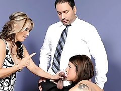 Selena Skye, Sasha Sky in Mothers Training Daughters How To Deepthroat Beefstick #03, Scene #03