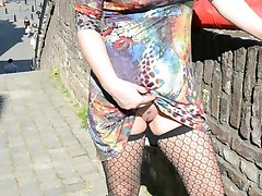 Sping, Dutch milf and hubby flashing Maastricht and sex