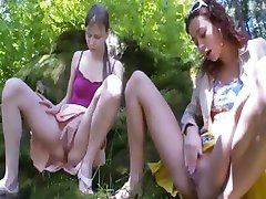 Three belarusian virgins masturbating