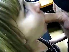 blowjob on work