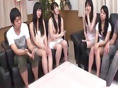 Ongecensureerde Japanse scheren sessie voordat orgie