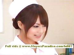 Акихо Ешизава seksowny Azjatycki pielęgniarka lubi dokuczać lekarz
