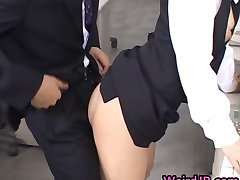 Ładny Asian Sekretarz Fucked