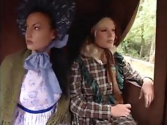 Far West lesbians in carriage