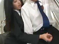 Asijské Honění na Veřejnosti Autobus