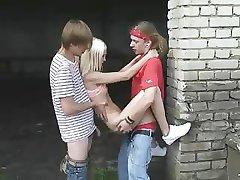 Two sweet russian girls get fucked - PornFix.Co.Uk