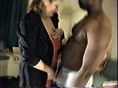 Zuid-Witte Vrouw heeft Grote Zwarte Pik