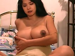 A thick and busty latina slut gets her tits squeezed in a hotel room