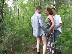 Blowjob on a fresh air to two boys.