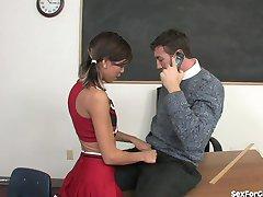 Bad Girl Cheerleader Fucks Her Teacher