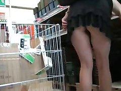 winkelen upskirt geen pantie