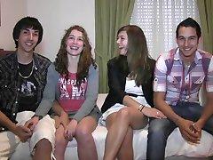 Ispanijos paauglių mėgėjų svingeriai.661