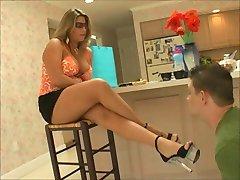 latina foot slave