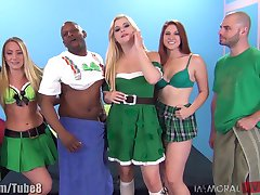 St. Patrick ' s pornstar orgie party! Vol.3