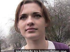 European amateur bangs in public by stranger