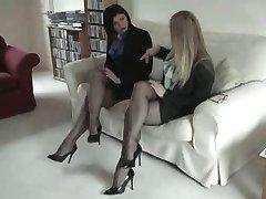 Černá tvarovaných Nylonových Punčoch Nohy a chodidla Fetiš